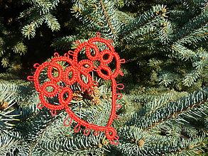 Dekorácie - Vianočné srdiečko 2 - 6123086_