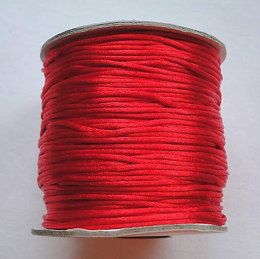 Satén.šnúra cca1,5mm-červená-70m