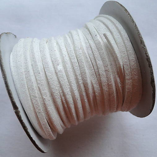 Remienok 2,5mm-biela-20m