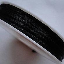 Galantéria - Satén.šnúrka 2mm-čierna-7m - 6122820_