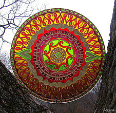 Dekorácie - Mandala Citového Plynutia - 6120772_