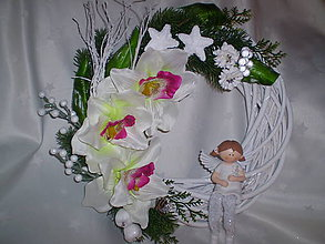 Dekorácie - Prútený veniec Orchidea - 6120818_