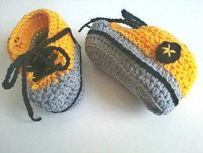 Topánočky - T e n i s k y / ..žlto-šedé (do 1.roka) - 6119860_