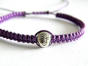 Náramky - violet budha shamballa - 6121201_