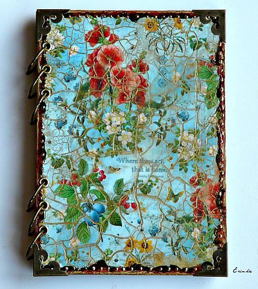 Záhrada radosti ♥  zápisník/diár s linajkovanými stranami