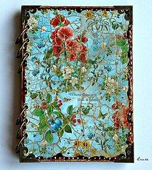 Papiernictvo - Záhrada radosti ♥  zápisník/diár s linajkovanými stranami - 6120655_