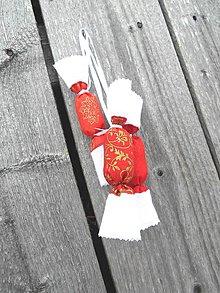 Dekorácie - Vianočné salónky - červené - 6122680_