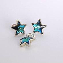 Sady šperkov - Swarovski hviezdičky modré - 6122915_