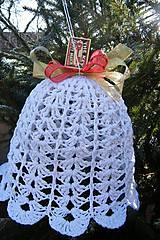 Dekorácie - Veľký háčkovaný vianočný zvonec 2 - 6120307_