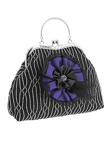 Kabelky - Spoločenská dámská kabelka čierno strieborná 11U - 6124558_