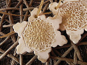 Dekorácie - Sada snehových vločiek- ako od perinbabky:-) - 6124141_