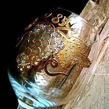Nádoby - Ručne maľovaný jubilejný pohár - 6123521_