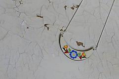 Náhrdelníky - DREVENÝ NÁHRDELNÍK (Modrá) - 6126165_