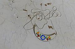 Náhrdelníky - DREVENÝ NÁHRDELNÍK (Modrá) - 6126166_