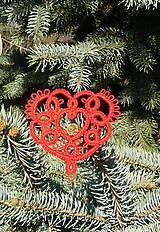 Dekorácie - Vianočné srdiečko 3 - 6123347_