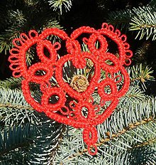 Dekorácie - Vianočné srdiečko 3 - 6123348_