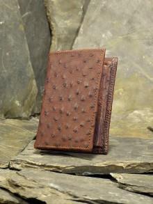 Peňaženky - Pánská kožená peněženka - Pštros - 6123258_