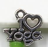 Komponenty - Prívesok I LOVE YOGA - 6126953_