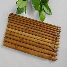 Galantéria - VIANOČNÁ AKCIA - 2sady bambusových háčikov za super cenu :) - 6127025_