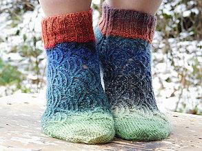 Obuv - členkové dúhovky II-s pravej ponožkovej (v.39-40) - 6125370_