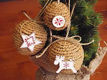 - Vianočné gule s bielymi ozdobami - sada 3 kusov - 6125470_