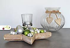 Svietidlá a sviečky - Vianočný svietnik v tvare hviezdy (Zelený) - 6124985_