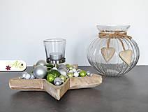 Svietidlá a sviečky - Vianočný svietnik v tvare hviezdy (Zelený) - 6124990_