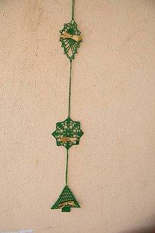 Dekorácie - Zelená závesná vianočná dekorácia - 6127748_
