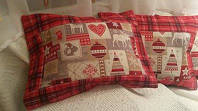 Úžitkový textil - Malé vankúše - na zimnú dekoráciu - zo severného pólu :-) - 6132128_