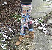 Nohavice - Gaťuše patchwork-všehochuť - 6131406_