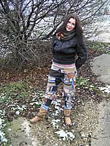 Nohavice - Gaťuše patchwork-všehochuť - 6131412_
