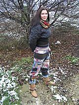 Nohavice - Gaťuše patchwork-všehochuť - 6131418_