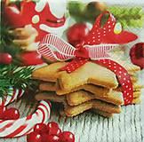 Papier - S545 - Servítky - linecké, medovník, vianoce, - 6127997_