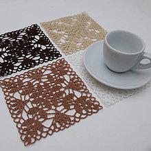 Úžitkový textil - Podšálky 6 - akú kávu si dnes dáte - 6132365_