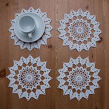 Úžitkový textil - Podšálky 8 - na sviatočný stôl 2 - 6132392_