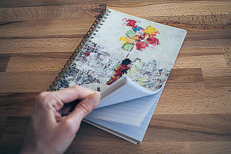 Papiernictvo - Zápisník, Balóny miesto krídel - 6130441_