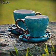 Nádoby - Elfská  láska - sada dvoch šálok na kávu (picollo) - 6130360_
