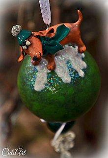 Dekorácie - Pároček na vychádzke - vianočná dekorácia - 6130543_