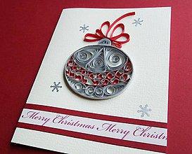Papiernictvo - vianočná guľa - pozdrav - 6129863_