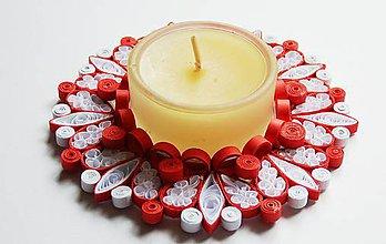Svietidlá a sviečky - Vianočný svietnik - 6129896_