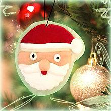 Dekorácie - Svietiaca vianočná dekorácia (Santa) - 6129887_