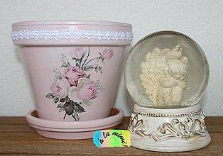 Nádoby - Kvetináč Ružový vintage - 6134224_