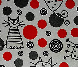 Textil - Cats red and gray - 6132558_
