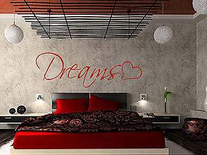 Dekorácie - (3705n) Nálepka na stenu - Dreams - 6133984_