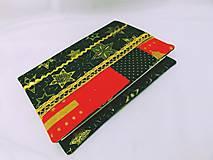 Papiernictvo - Obal na knihu / diár vianočný zeleno-červeno-zlatý 1. - 6134329_