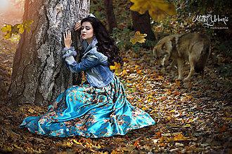 Sukne - sukňa  FLOWER tyrkys - 6134043_