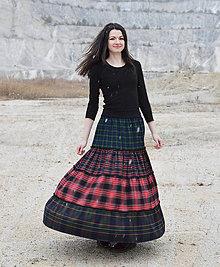 Sukne - Tartan skirt - 6135009_