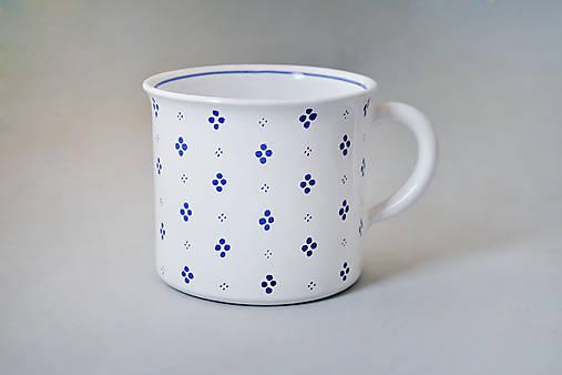 Kafáč 10 cm 4puntík - bílý, cca 0,5 l