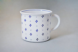 Nádoby - Kafáč 10 cm 4puntík - bílý, cca 0,5 l - 6133758_