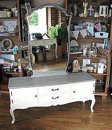 Nábytok - Toaletka s veľkým zrkadlom :) - 6134481_